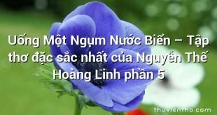 Uống Một Ngụm Nước Biển – Tập thơ đặc sắc nhất của Nguyễn Thế Hoàng Linh phần 5