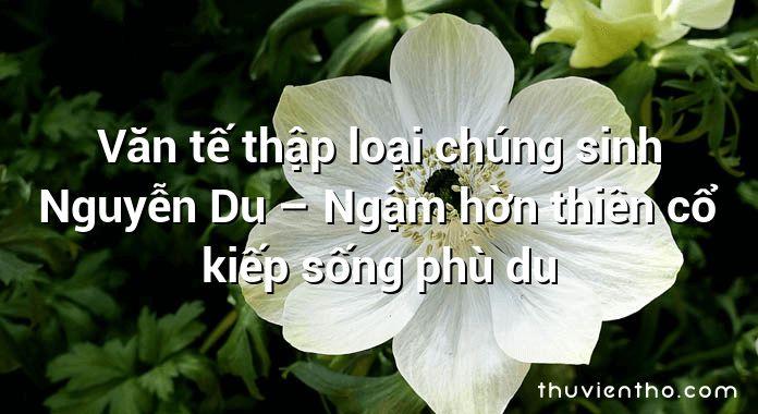 Văn tế thập loại chúng sinh Nguyễn Du – Ngậm hờn thiên cổ kiếp sống phù du