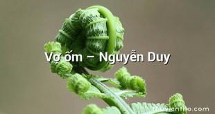 Vợ ốm  –  Nguyễn Duy