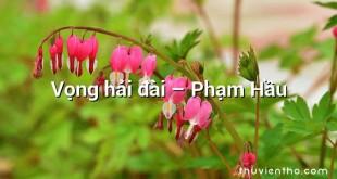 Vọng hải đài  –  Phạm Hầu
