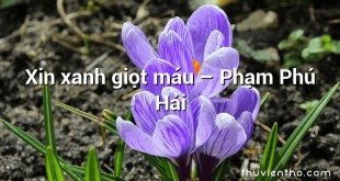 Xin xanh giọt máu  –  Phạm Phú Hải