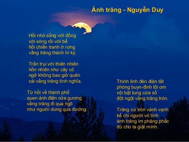 anh trang nguyen duy - Ánh trăng - Nguyễn Duy