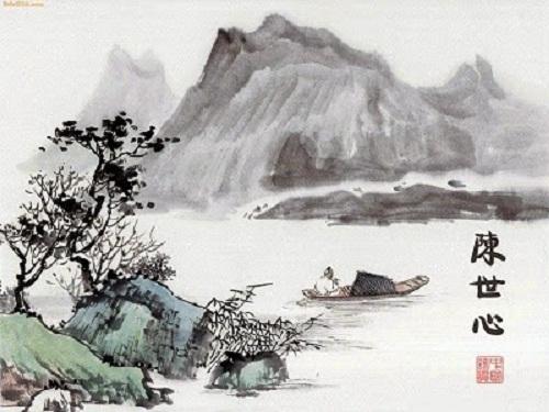 thu dieu nguyen khuyen - Thu điếu - Nguyễn Khuyến