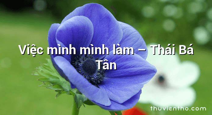 Việc mình mình làm – Thái Bá Tân