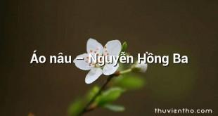 Áo nâu – Nguyễn Hồng Ba