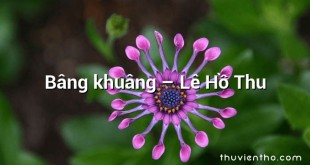 Bâng khuâng – Lê Hồ Thu