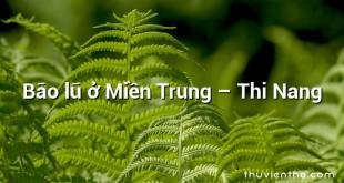 Bão lũ ở Miền Trung – Thi Nang