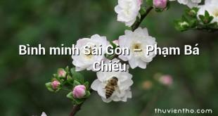 Bình minh Sài Gòn – Phạm Bá Chiểu