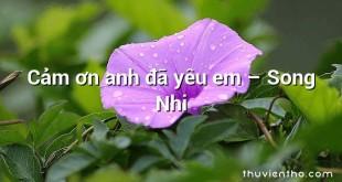 Cảm ơn anh đã yêu em – Song Nhi