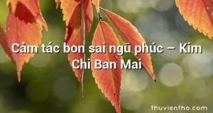 Cảm tác bon sai ngũ phúc – Kim Chi Ban Mai