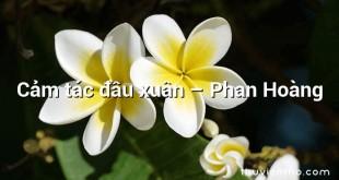 Cảm tác đầu xuân – Phan Hoàng