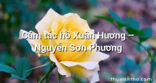 Cảm tác hồ Xuân Hương – Nguyễn Sơn Phương