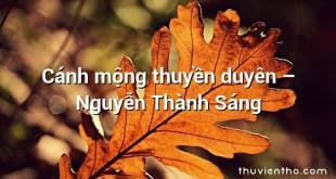 Cánh mộng thuyền duyên – Nguyễn Thành Sáng