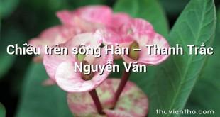 Chiều trên sông Hàn – Thanh Trắc Nguyễn Văn