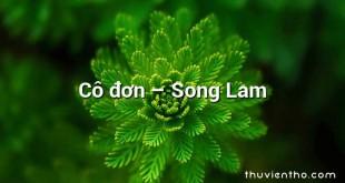 Cô đơn – Song Lam