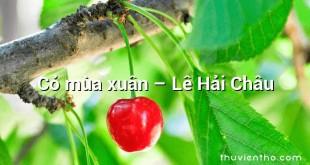 Cỏ mùa xuân – Lê Hải Châu