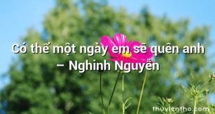 Có thể một ngày em sẽ quên anh – Nghinh Nguyễn