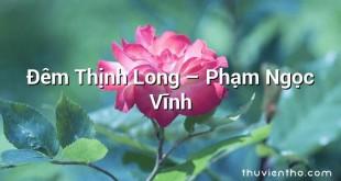Đêm Thịnh Long – Phạm Ngọc Vĩnh
