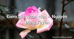 Điếm già, quan rởm – Nguyễn Đăng Tuyên