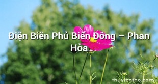 Điện Biên Phủ Biển Đông – Phan Hòa