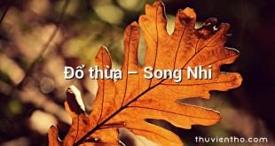Đổ thừa – Song Nhi