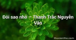 Đôi sao nhỏ – Thanh Trắc Nguyễn Văn