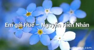 Em gái Huế – Nguyễn Hiền Nhân