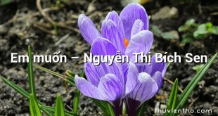 Em muốn – Nguyễn Thị Bích Sen