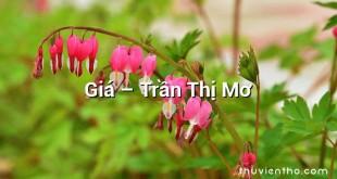 Giá – Trần Thị Mơ