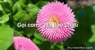 Gọi con – Hà Bảo Châu