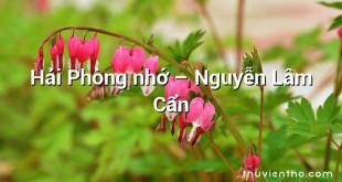 Hải Phòng nhớ – Nguyễn Lâm Cẩn
