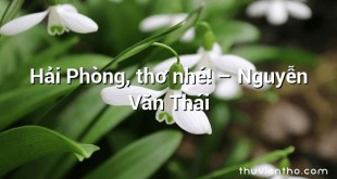 Hải Phòng, thơ nhé! – Nguyễn Văn Thái