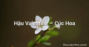 Hậu Valentine – Cúc Hoa
