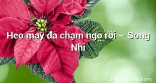 Heo may đã chạm ngõ rồi – Song Nhi