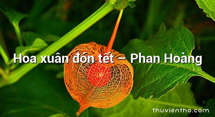 Hoa xuân đón tết – Phan Hoàng