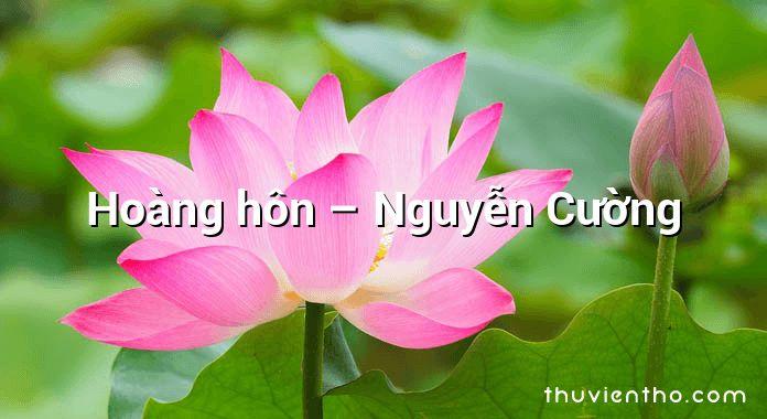 Hoàng hôn – Nguyễn Cường