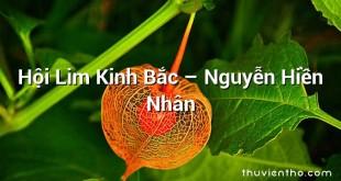 Hội Lim Kinh Bắc – Nguyễn Hiền Nhân