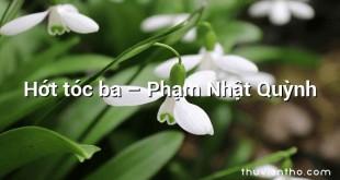 Hớt tóc ba – Phạm Nhật Quỳnh