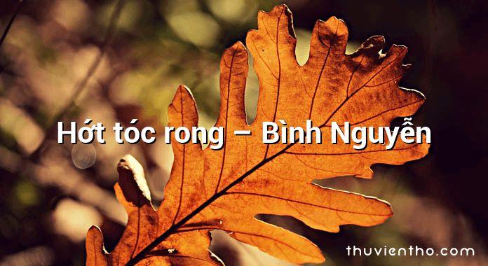 Hớt tóc rong – Bình Nguyễn