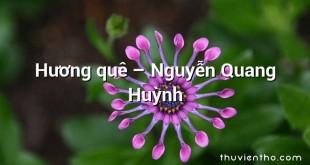 Hương quê – Nguyễn Quang Huỳnh