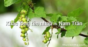 Khắc lồng tên nhau – Nam Trần