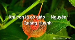 Khi con là cô giáo – Nguyễn Quang Huỳnh