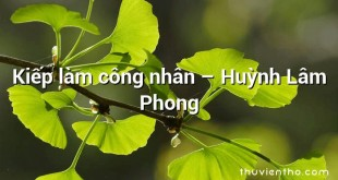Kiếp làm công nhân – Huỳnh Lâm Phong