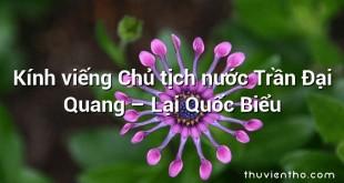 Kính viếng Chủ tịch nước Trần Đại Quang – Lại Quốc Biểu