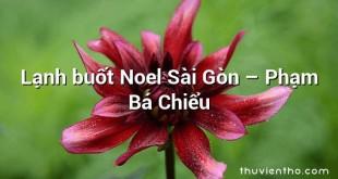 Lạnh buốt Noel Sài Gòn – Phạm Bá Chiểu