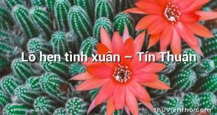 Lỡ hẹn tình xuân – Tín Thuận