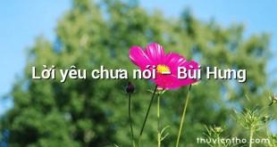 Lời yêu chưa nói – Bùi Hưng