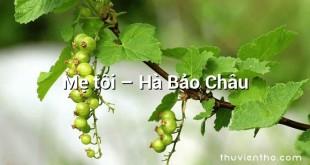 Mẹ tôi – Hà Bảo Châu