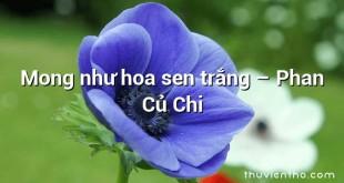Mong như hoa sen trắng – Phan Củ Chi