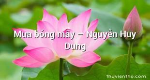 Mưa bóng mây – Nguyễn Huy Dung